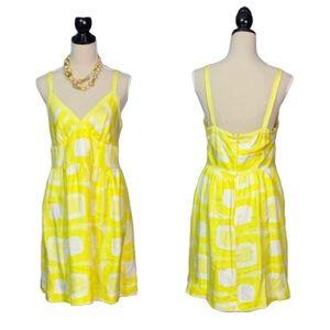 Banana Republc Yellow 100% Silk Slip Dress sz 10